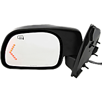 Mirror - Driver Side, Power, Heated, Folding, Textured Black, With In-Glass Turn Signal, Models Built From February 18, 2001