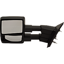 Mirror - Driver Side, Towing, Folding, Textured Black, With Blind Spot Glass, Telescopic Dual Glass