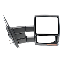 Mirror - Passenger Side, Towing, Power, Heated, Folding, Textured Black, With Turn Signal, Blind Spot Glass, Puddle Lamp, Telescopic