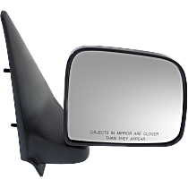 Mirror - Passenger Side, Textured Black, Paddle Style, For Styleside