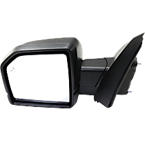 Mirror - Driver Side, Power, Heated, Power Folding, Textured Black, With Turn Signal, Memory, Blind Spot Function