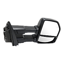 Mirror - Passenger Side, Towing, Power, Heated, Power Folding, Textured Black, Turn Signal, Memory, Blind Spot Function, Puddle Lamp