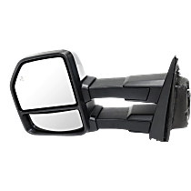 Mirror - Driver Side, Towing, Power, Heated, Power Folding, Chrome, With Turn Signal, Memory, Blind Spot Function, Puddle Lamp