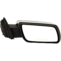 Mirror - Passenger Side, Power, Heated, Chrome, With Memory and Puddle Lamp, Black Base