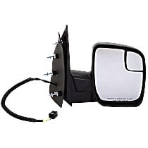 Mirror Non-Heated - Passenger Side, Power Glass, With Blind Spot Corner Glass, Textured Black