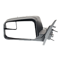 Mirror - Driver Side, Power, Textured Black, With Blind Spot Glass