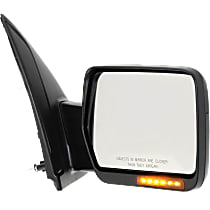 Mirror Manual Folding Heated - Passenger Side, Power Glass, In-housing Signal Light, Textured Black
