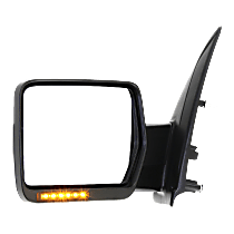 Mirror - Driver Side, Power, Heated, Power Folding, Chrome, With Turn Signal, Memory and Puddle Lamp, Standard Type w/ Reflector