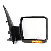 Mirror - Passenger Side, Power, Heated, Power Folding, Chrome, With Turn Signal, Memory and Puddle Lamp, Standard Type w/ Reflector