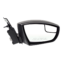 Mirror - Passenger Side, Power, Folding, Textured Black, With Blind Spot Glass