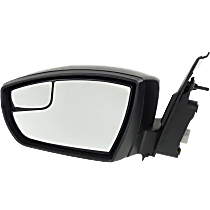 Mirror - Driver Side, Power, Folding, Paintable, With Blind Spot Glass
