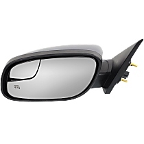 Mirror - Driver Side, Power, Heated, Textured Black, With Blind Spot Glass and Puddle Lamp