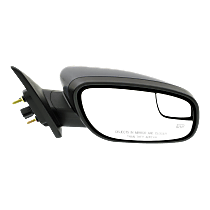 Mirror - Passenger Side, Power, Heated, Textured Black, With Blind Spot Glass and Puddle Lamp