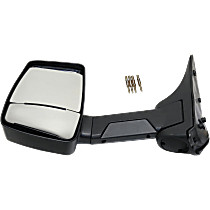 Towing Mirror Manual Folding Non-Heated - Driver Side, Manual Glass,With Blind Spot Corner Glass, Textured Black