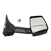 Towing Mirror Manual Folding Non-Heated - Passenger Side, Manual Glass,With Blind Spot Corner Glass, Textured Black