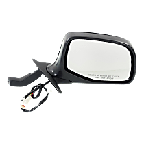 Mirror - Passenger Side, Power, Chrome, Black Base