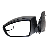 Mirror - Driver Side, Power, Heated, Folding, Textured Black, With Blind Spot Glass