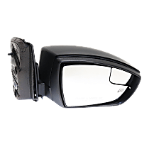 Mirror - Passenger Side, Power, Heated, Folding, Textured Black, With Blind Spot Glass