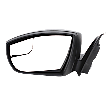 Mirror - Driver Side, Power, Textured Black, With Blind Spot Glass, For Sedan