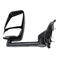 Mirror - Driver Side, Towing, Paintable, With Short Arm