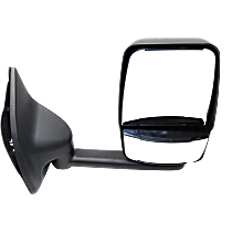 Mirror - Passenger Side, Towing, Paintable, With Short Arm