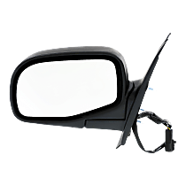 Mirror - Driver Side, Power, Textured Black, 5-wire