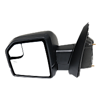 Mirror - Driver Side, Power, Heated, Power Folding, Paintable, Turn Signal, Memory, Blind Spot Glass, Puddle Lamp, With Spot Light