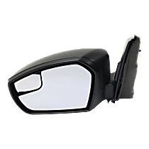 Mirror - Driver Side, Power, Folding, Textured Black, With Blind Spot Glass