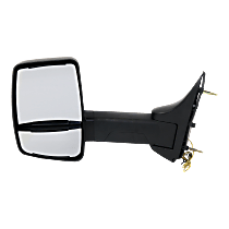 Mirror - Driver Side, Towing, Textured Black, With Turn Signal
