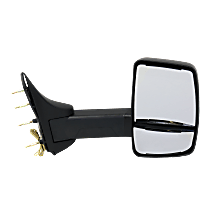 Mirror - Passenger Side, Towing, Textured Black, With Turn Signal