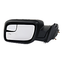 Mirror - Driver Side, Power, Heated, Power Folding, Paintable, With Turn Signal and Puddle Lamp, With Small Housing