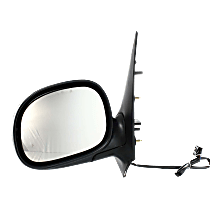 Mirror - Driver Side, Power, Heated, Chrome, Black Base