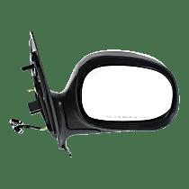 Mirror - Passenger Side, Power, Heated, Chrome, Black Base