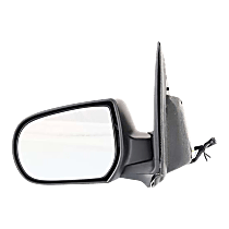 Mirror - Driver Side, Power, Textured Black, Later 2nd Design