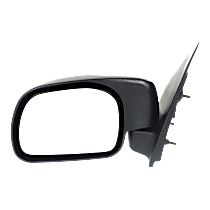 Mirror - Driver Side, Textured Black, Standard Type Paddle Style