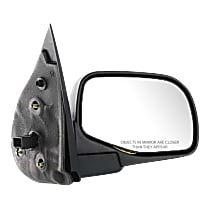 Mirror - Passenger Side, Power, Textured Black, With Puddle Lamp