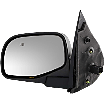 Mirror - Driver Side, Power, Heated, Textured Black, With Puddle Lamp