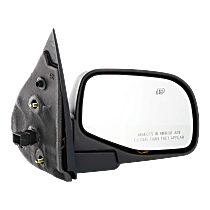 Mirror - Passenger Side, Power, Heated, Textured Black, With Puddle Lamp
