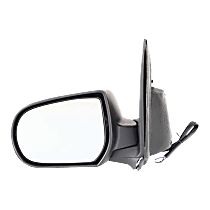 Mirror - Driver Side, Power, Heated, Folding, Textured Black