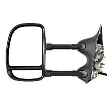 Mirror - Driver Side, Towing, Power, Non-Heated, Folding, Textured Black, With Blind Spot Glass, Telescopic Double Swing Dual Glass