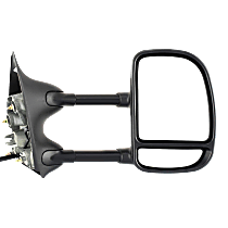 Mirror - Passenger Side, Towing, Power, Non-Heated, Folding, Textured Black, With Blind Spot Glass, Telescopic Double Swing Dual Glass