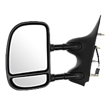 Mirror - Driver Side, Towing, Power, Textured Black, With Blind Spot Glass, Dual Arm