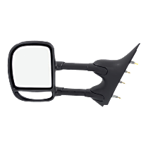 Mirror - Driver Side, Towing, Textured Black, Blind Spot Glass, Dual Arm