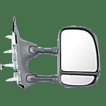 Mirror - Passenger Side, Towing, Textured Black, Blind Spot Glass, Dual Arm