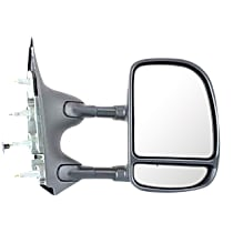 Mirror - Passenger Side, Towing, Textured Black, Blind Spot Glass, Dual Arm