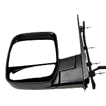 Mirror - Driver Side, Power, Textured Black, With Blind Spot Glass, Dual Glass