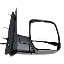 Mirror - Passenger Side, Power, Textured Black, With Blind Spot Glass, Dual Glass