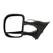 Mirror - Driver Side, Towing, Power, Heated, Folding, Chrome, With In-Housing Turn Signal, Blind Spot Glass, Telescopic