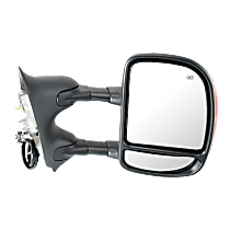 Mirror - Passenger Side, Towing, Power, Heated, Folding, Chrome, With In-Housing Turn Signal, Blind Spot Glass, Telescopic