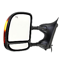 Mirror - Driver Side, Towing, Power, Heated, Folding, Textured Black, With In-Housing Turn Signal, Blind Spot Glass, Telescopic